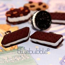 Funky SWEET Cookie Orecchini Carino Kitsch retrò divertente Baker Baking KAWAII Junk Food