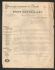"""PARIS (X°) USINE d'ACCESSOIRES de CHASSE """"PIOT , LEPAGE & Cie"""" en 1936"""