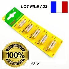 5 PILES A23 LR23A ALCALINE 12V  23AE MN21 TELECOMMANDE  ALARME DLU 5 ANS NEUF !!