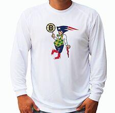 Boston Guy Fan Sport Teams Combined Logo Mashup  UPF 30 Long Sleeve T-Shirt