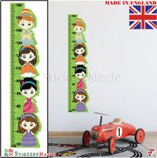 Principessa altezza Crescita Grafico Adesivi Murali Bambini Camera Da Letto Arredamento ARTE Decalcomanie UK