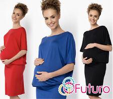 Onorevoli maternità quotidiana Abito Scollo Barca Kimono Tunica Mini più taglie 8-18 fm17