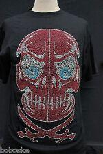 T-shirt tête de mort pirate , manche courte , 100% coton