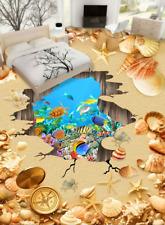 3D spiaggia tavolo Pavimento Foto Wallpaper Murales Muro Stampa Decalcomania