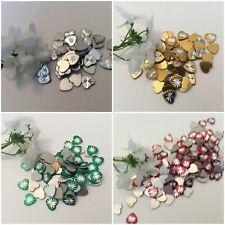 Vintage Metal Heart embellishments Cabs C'60's  x20 8x8mm Craft Jewellery Taiwan