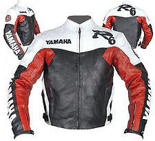 YAMAHA R6 HOMMES MOTO VESTE EN CUIR MOTORRAD LEDER JACKE GIACCA IN PELLE MOTO CE
