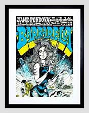 MOVIE FILM BARBARELLA JANE FONDA SCI FI CLASSIC BLONDE GUN FRAMED PRINT B12X7122