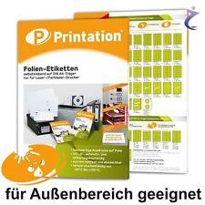 Wetterfeste Etiketten Format Auswahl - Folie Weiß oder Transparent wetterfest A4