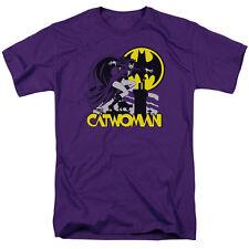 DC Comics Batman Catwoman Rooftop Licensed Adult T Shirt