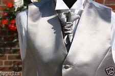 Herrenweste Cutweste Hochzeitsweste in SILBER GRAU NEU