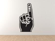 Foam Finger - Sports Fan Football Baseball Hockey College  - Vinyl Wall Decal