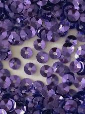 Sequins 4mm Pansy Purple Metallic Cup Coolie Hat Shape Choose Pack Size