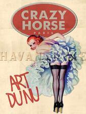 PARIS FRANCE Travel Art Photo Print Pinup Poster ART DU NU Crazy Horse Nude
