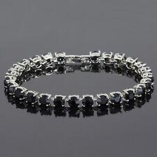 Xmas Gifts Costume Jewellery Women Jewelry Round Cut Onyx Dainty Tennis Bracelet