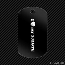I Love my 2JZGTE Keychain GI dog tag engraved many colors Supra
