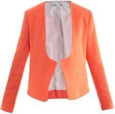 DVF Diane Von Furstenberg FERIHA Cady Blazer Jacket Top Firework Peach $365