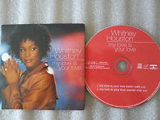 "CD-WHITNEY HOUSTON-MY LOVE IS YOUR LOVE-Wyclef""Wonder""-(CD SINGLE)-1999-2 TRACK"