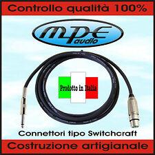 MPE Cavo microfonico / microfono XLR Femmina tipo Switchcraft + Jack 6,3mm mono