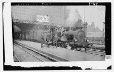 Photo of  Train at station. Malmo, Sweden  Number 15670 Vintage 31925
