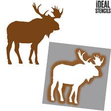 Moose Silhouette STENCIL Home Decorative Art Craft Reusable Paint Ideal Stencils