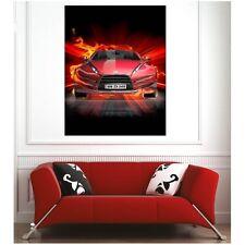 Affiche poster voiture en feu 54409738