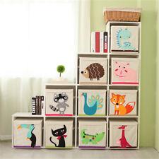 Folding Storage Box Canvas Children Clothes Toy Organizer Wardrobe Underwear Bin
