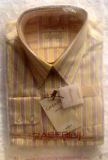 Caserini  Italian Cotton Mens Designer Business Shirts Long Sleeve Size 44