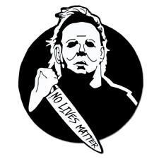 PinMart's Mike Myers No Lives Matter Halloween Enamel Lapel Pin
