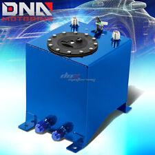 2.5 GALLON LIGHT PERFORMANCE BLUE COATED ALUMINUM FUEL CELL TANK+LEVEL SENDER