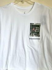 Auténtico Nike Air Jordan Nyc Crosswalk Camiseta Blanca 899993-100 3a84de42d6473