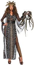 Medusa Adult Women Costume Gold Shimmer Catsuit Fancy Dress Halloween Leg Avenue