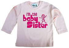"Dirty Fingers Bebé Top de manga larga camiseta CAMISETA ""I'm the Bebé Sister"