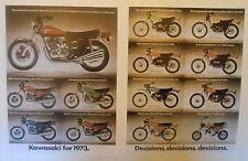 1973 KAWASAKI MOTORCYCLE LINEUP SALES AD Z1 H1 H2 S1 S2 F9 F11 F7 F6 G5 MT1 G4