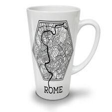 ROMA city map FASHION NUOVO white tea caffè latte Tazza 12 17 once | wellcoda