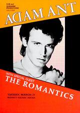 Adam Ant - The Romantics - 1984 - Market Square Arena - Concert Poster