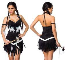 Sexy Squaw Indianer Kostüm Karneval Fasching Indianerin S M L XL 36 38 40 42 Neu