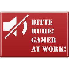 Fridge Magnet Magnet Shield Fun Magnets Please Ruhe Gamer at work 38807