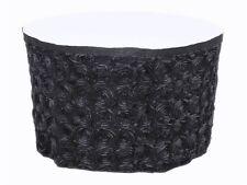 21ft Grandiose Rose Rosette Satin Table Skirt Skirting 3D Ribbon 8ft Cake Table