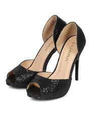 New Women Liliana Yanka-14 Glitter Fabric Peep Toe Flashy Stiletto Heel Pump