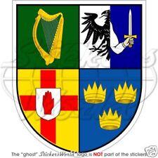 IRELAND Irish Province Coat of Arms EIRE Bumper Sticker