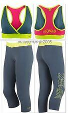 ZUMBA 2Pc.SET! SWAG V-BRA + CAPRI LEGGINGS Dance Fitness,Yoga,WorkOut -ElteZWear