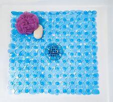 "21""x21"" River Rock Shower Mat PVC Bathtub Massage Mat Transparent Square New"