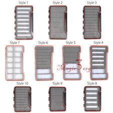 10 Style Tackle Fly Box Slit Foam Waterproof Clear Slim Big Fishing Flies Case