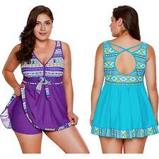 Orchid tribal print accent swimdress and short set summer sexy womens swimwear