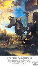 SANTINO HOLY CARD TELA CANVAS SAN GIUSEPPE DA COPERTINO (OSIMO)