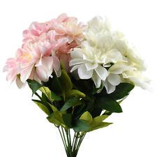 Artificial Dahlia Flowers Spray, 19-Inch