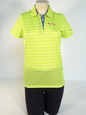 Columbia Sportswear Green & White Mesh Short Sleeve Polo Shirt Women NWT
