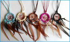 Acchiappasogni Nativi Indiano Regolabile Collana - Scelta Di 5 Colori ! Nuova