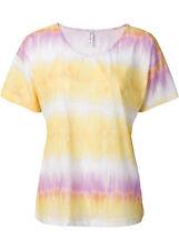 RAINBOW Camiseta de mujer manga corta top túnica Gradient Colors Amarillo Rosa