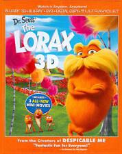 Dr. Seuss' The Lorax 3D (Blu-ray/DVD, 2012, 3-Disc Set) Brand New +3 mini-movies